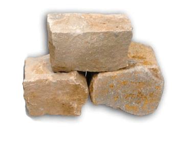 Wesersandstein Knacker gelb grau
